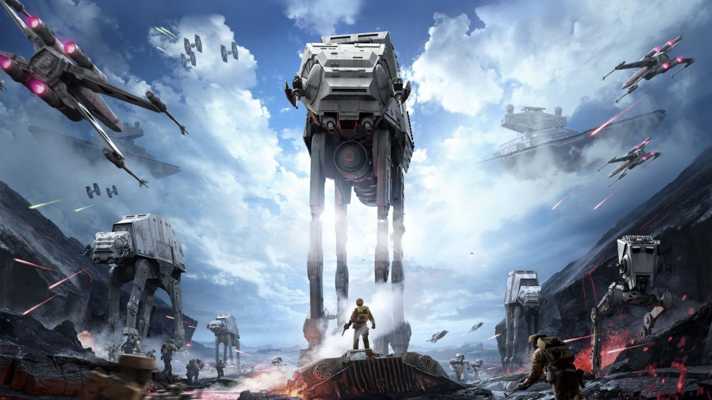 Wherein the snowspeeder represents consumers and the AT-AT stepping on it is EA.